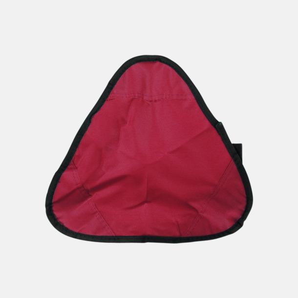 Röd / Svart Vikbara pallar med reklamtryck