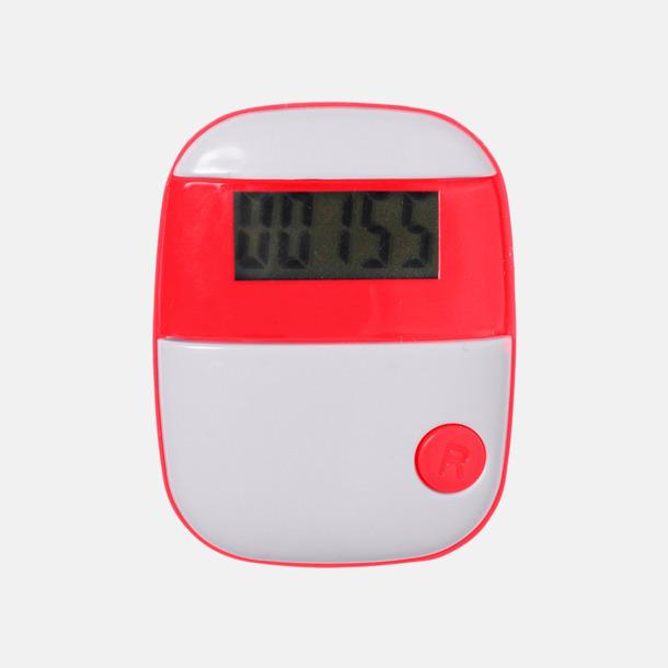 Röd Enkla stegräknare med reklamtryck