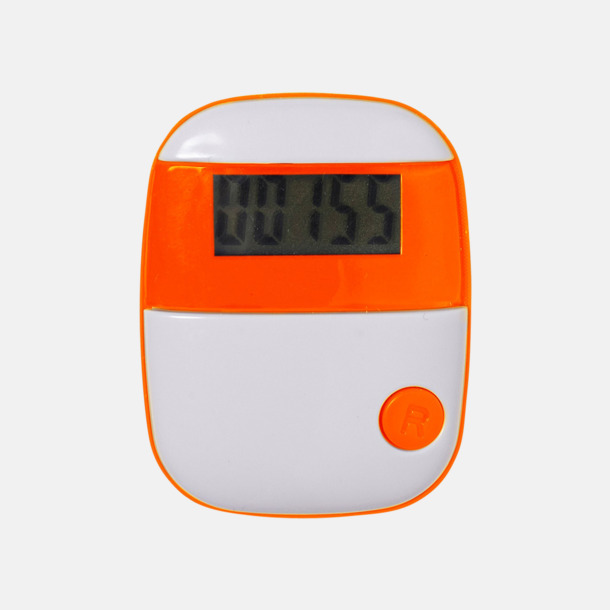 Orange Enkla stegräknare med reklamtryck