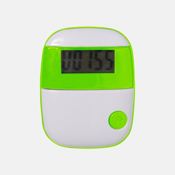 Grön Enkla stegräknare med reklamtryck
