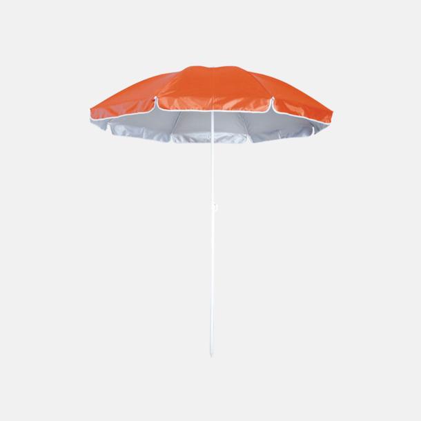 Orange Parasoller för stranden med reklamtryck