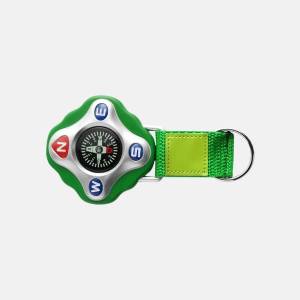 Ljusgrön Kompass med rem och nyckelring - med reklamtryck