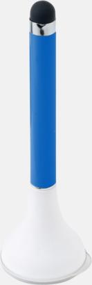 Blå Touchpenna, bläckpenna och skärmrengörare med reklamtryck
