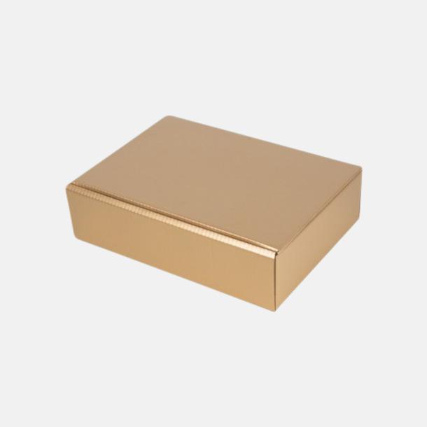 Guld (för 3) Papperskartonger i flera storlekar - med reklamtryck