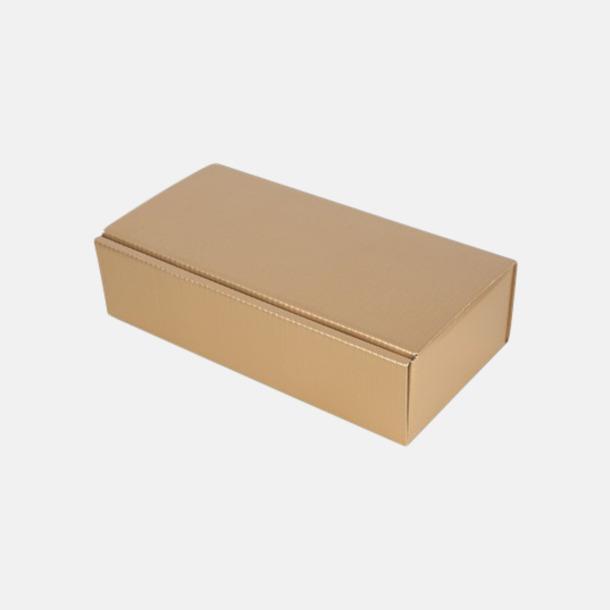 Guld (för 2) Papperskartonger i flera storlekar - med reklamtryck