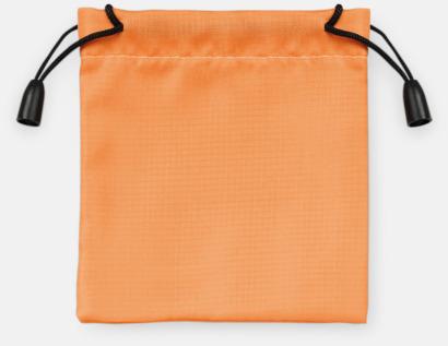 Orange Presentpåsar med dragsko - med reklamtryck