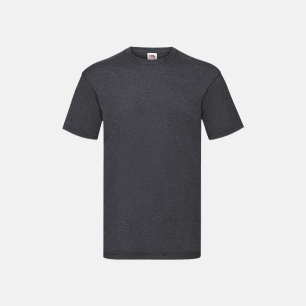Dark Grey Heather Valueweight t-shirt med tryck