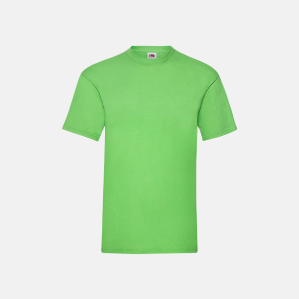 Lime Valueweight t-shirt med tryck