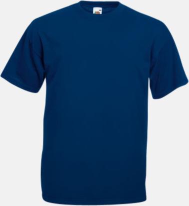 Navy Valueweight t-shirt med tryck