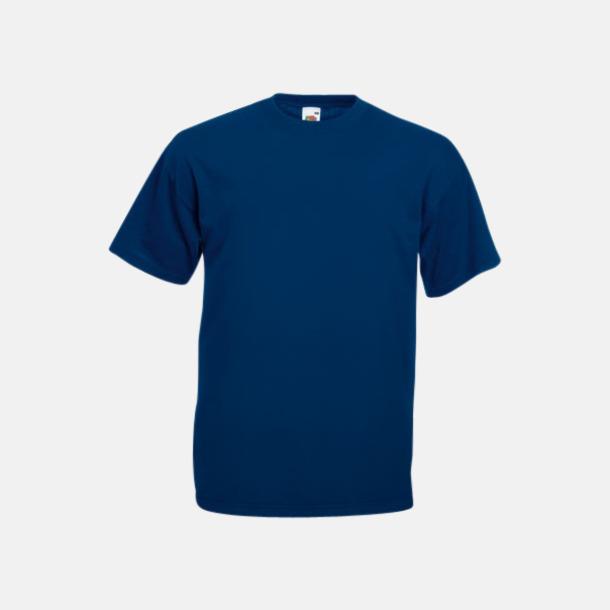 Marinblå Valueweight t-shirt med tryck