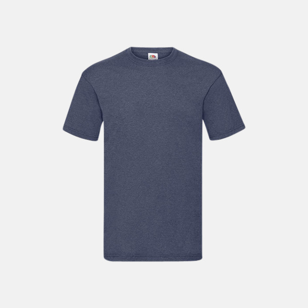 Vintage Heather Navy Valueweight t-shirt med tryck