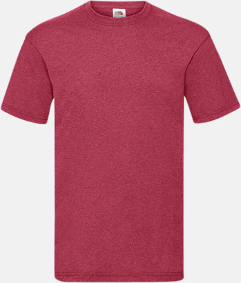Vintage Heather Red Valueweight t-shirt med tryck