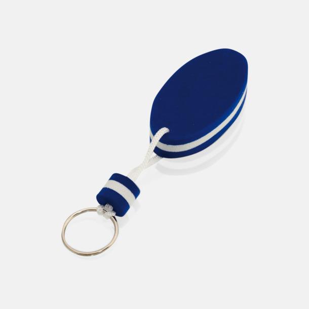 Marinblå / Vit Små nyckelringar som flyter - med tryck