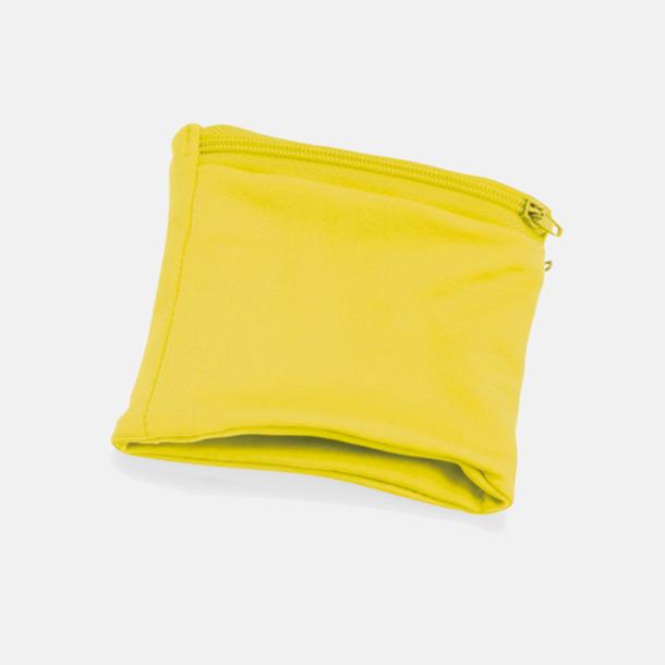 Gul Plånbok att bära runt handleden med eget tryck
