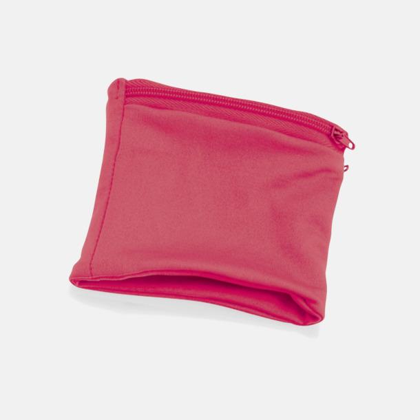 Rosa Plånbok att bära runt handleden med eget tryck