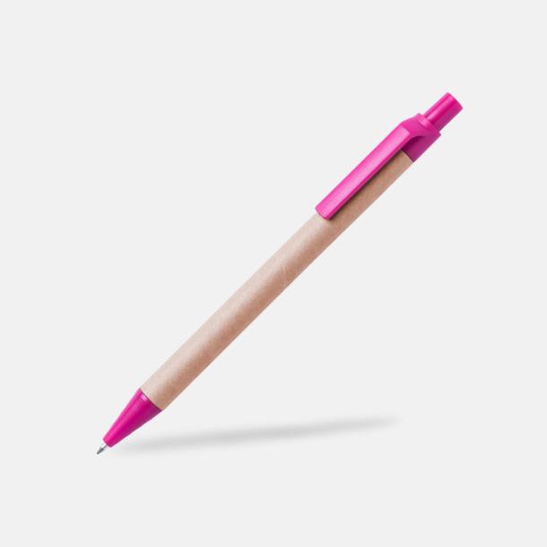 Rosa Ekologiska pennor med tryck