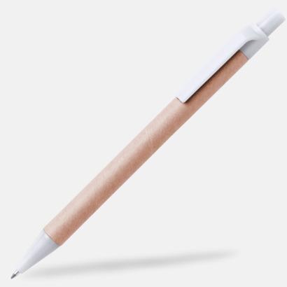 Vit Ekologiska pennor med tryck