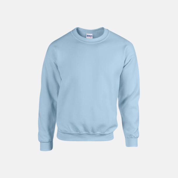 Ljusblå (herr) Tröjor i många färger från Gildan med reklamtryck
