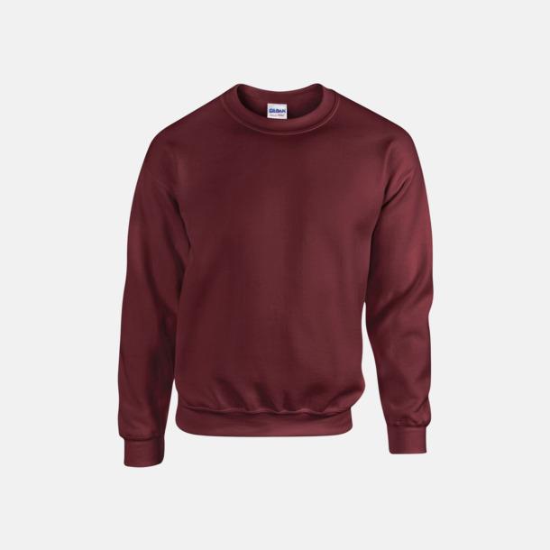 Maroon (herr) Tröjor i många färger från Gildan med reklamtryck