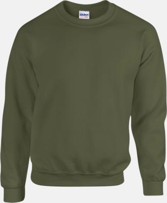 Military Green Tröjor i många färger från Gildan med reklamtryck