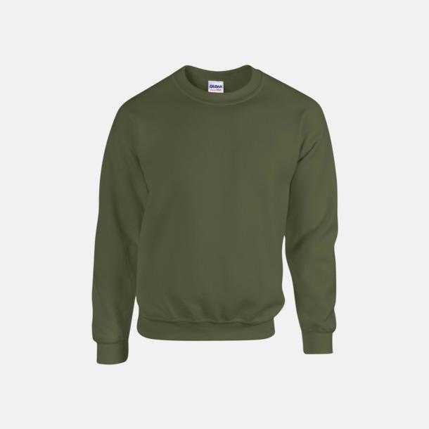 Military Green (herr) Tröjor i många färger från Gildan med reklamtryck