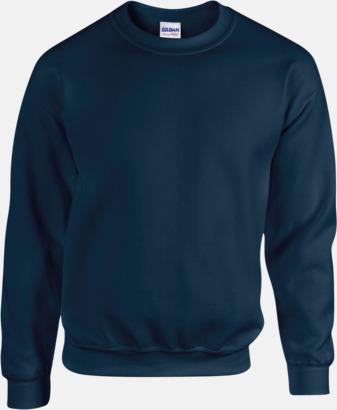 Marinblå Tröjor i många färger från Gildan med reklamtryck