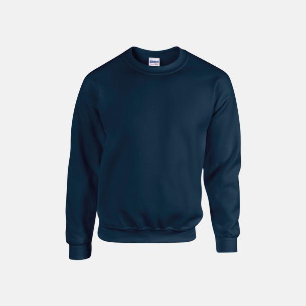 Marinblå (herr) Tröjor i många färger från Gildan med reklamtryck