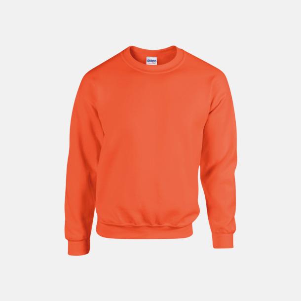 Orange (herr) Tröjor i många färger från Gildan med reklamtryck
