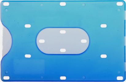 Blå Korthållare med eget tryck
