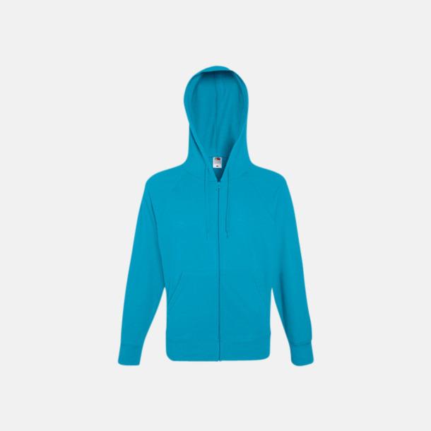 Azura Blue Hoodies med reklamtryck