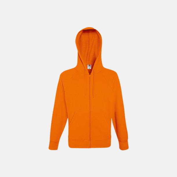 Orange Hoodies med reklamtryck