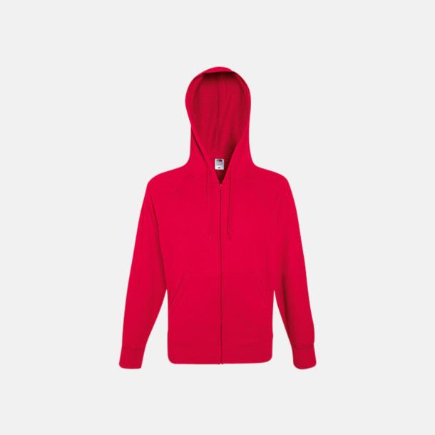 Röd Hoodies med reklamtryck