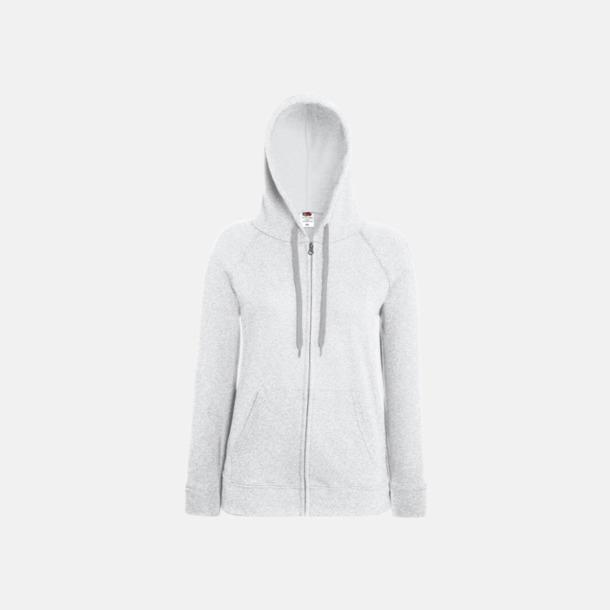 Heather Grey Dam luvtröjor med tryck