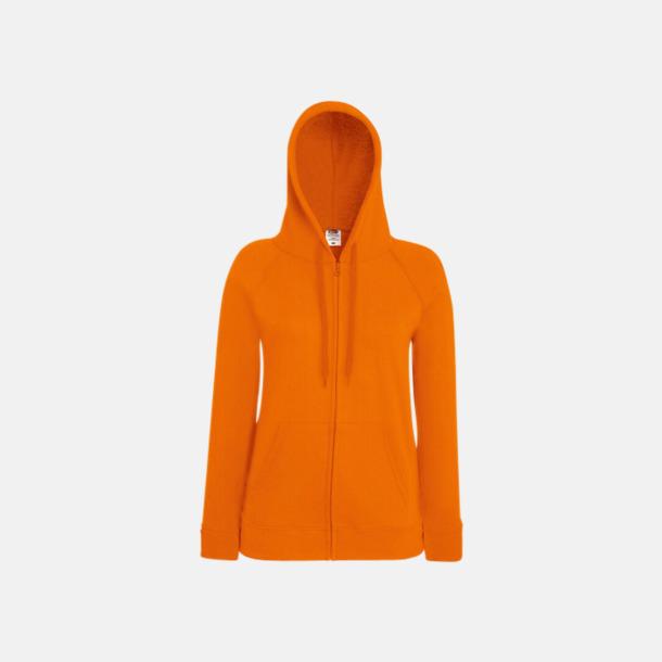 Orange Dam luvtröjor med tryck