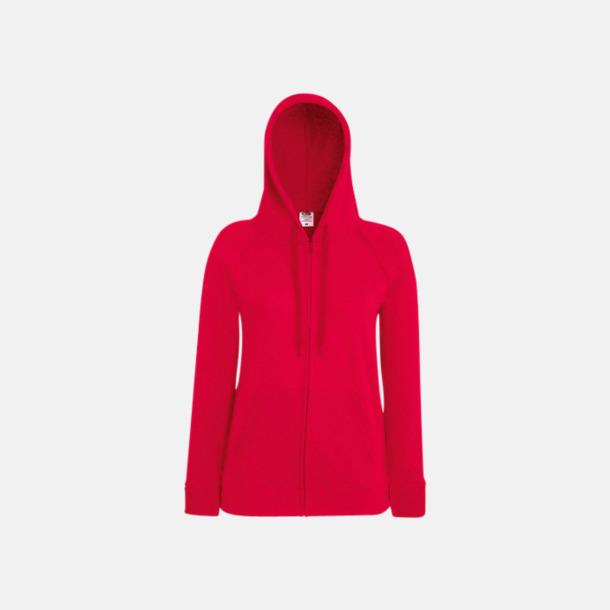 Röd Dam luvtröjor med tryck