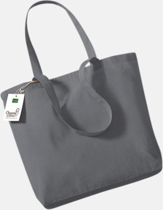 Graphite Grey Ekologiska tygkassar med egen reklam logga
