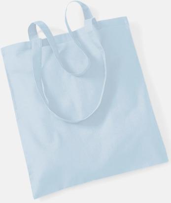 Pastel Blue Tygkasse med tryck