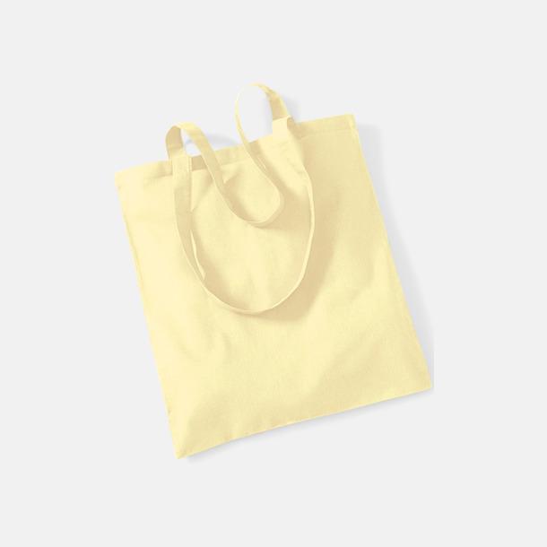 Pastel Lemon Tygkasse med tryck