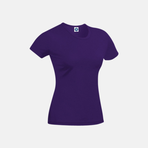 Lila T-shirt i ekologisk bomull