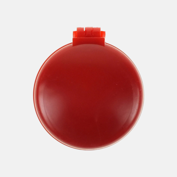 Röd Fickspegel med hårborste