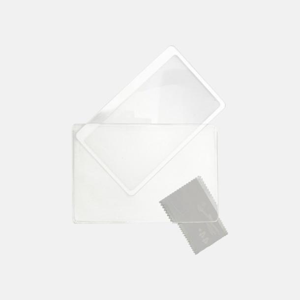 Kortformade förstoringslinser med reklamtryck