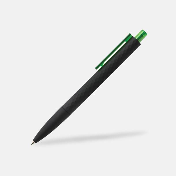 Svart/Grön Unika bläckpennor med reklamtryck