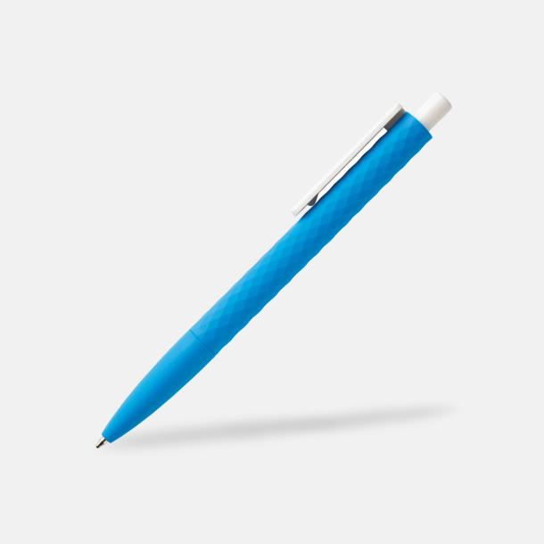 Blå/Vit Unika bläckpennor med reklamtryck