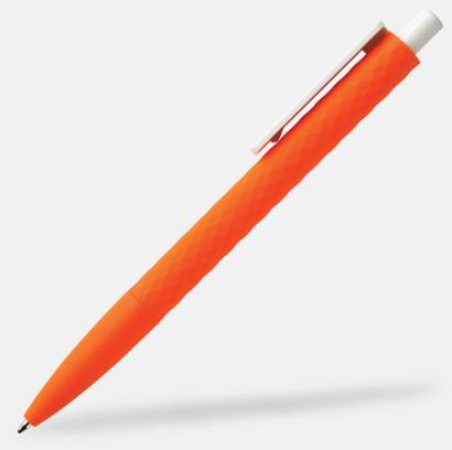 Orange / Vit Unika bläckpennor med reklamtryck