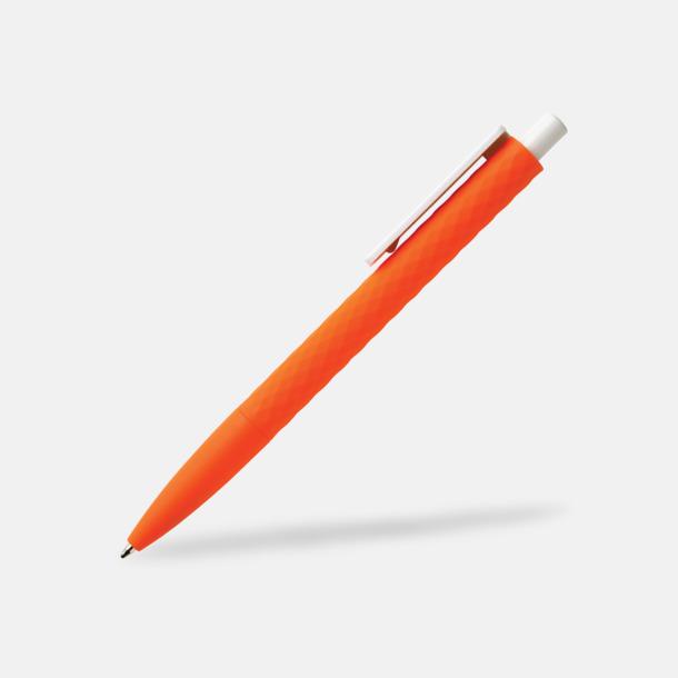 Orange/Vit Unika bläckpennor med reklamtryck