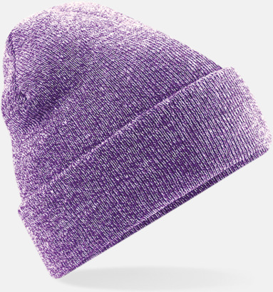 Heather Purple Stickad mössa i många färgstarka alternativ