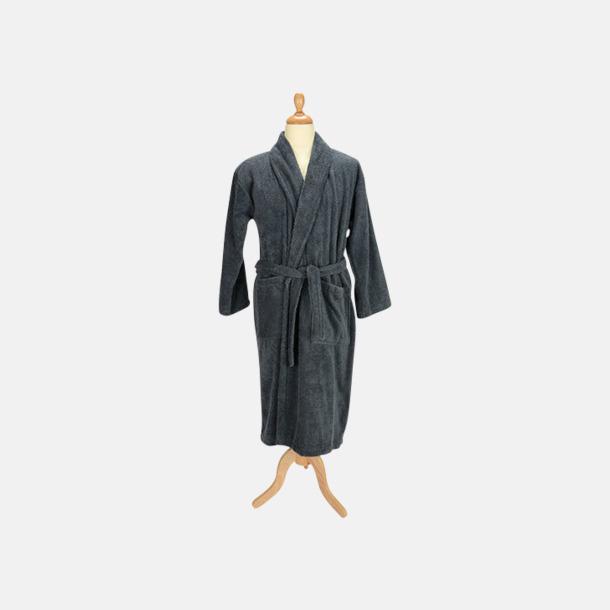 Graphite (mörk) Färgglada badrockar med reklambrodyr