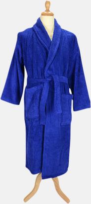 True Blue Färgglada badrockar med brodyr