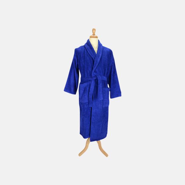 True Blue (mörk) Färgglada badrockar med reklambrodyr