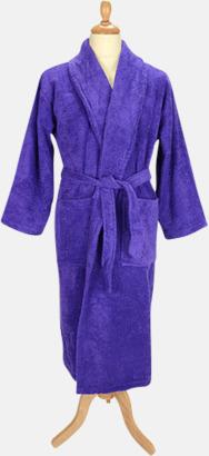 Lila Färgglada badrockar med brodyr